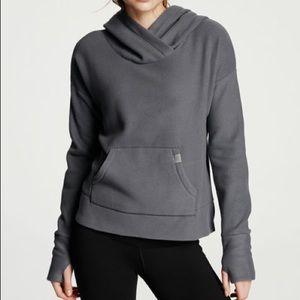 VSX Sport Pullover Fleece Hoodie Gray Size Large